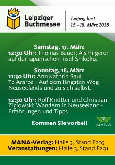 MANA-Verlag auf der Leipziger Buchmesse 2018, Veranstaltungen