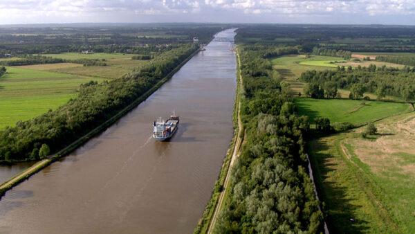 Die Nordsee von oben, Nord-Ostsee-Kanal, ein Film von Silke Schranz und Christian Wüstenberg