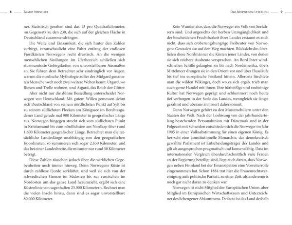 Das Norwegen-Lesebuch von Almut Irmscher, Blick ins Buch