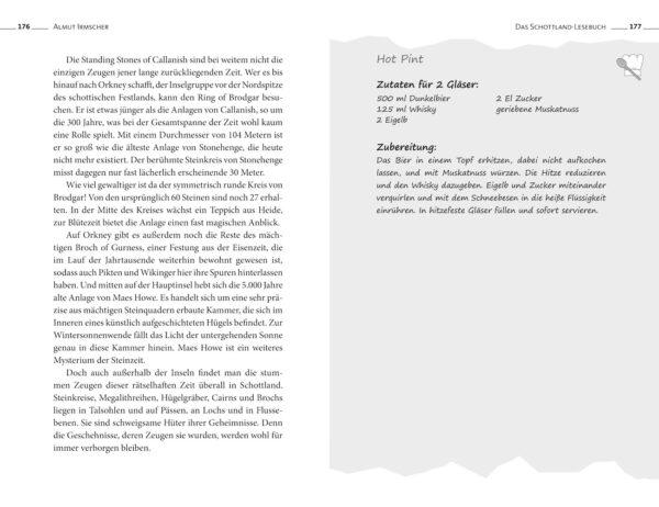 Das Schottland-Lesebuch von Almut Irmscher, Blick ins Buch
